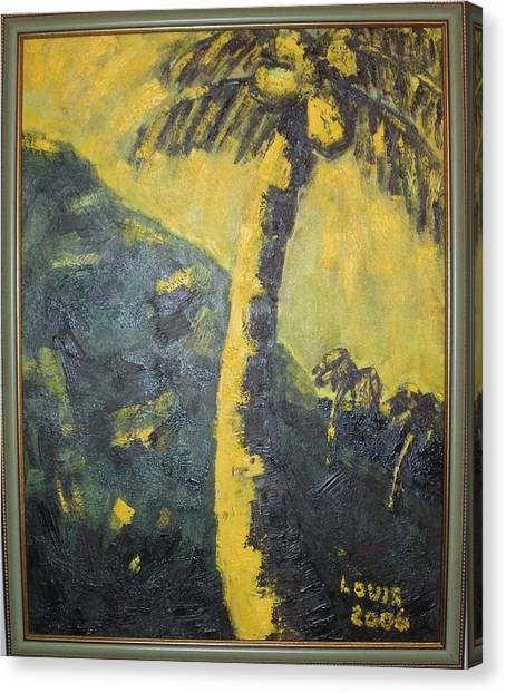 Coconut Tree Canvas Print by Louis  Stephenson