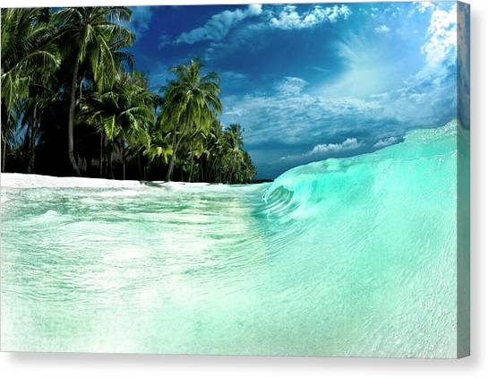 Abstract Seascape Canvas Print - Coconut Water by Sean Davey