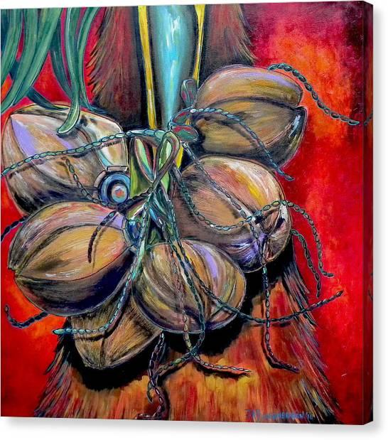 Coconuts Canvas Print by Patti Schermerhorn