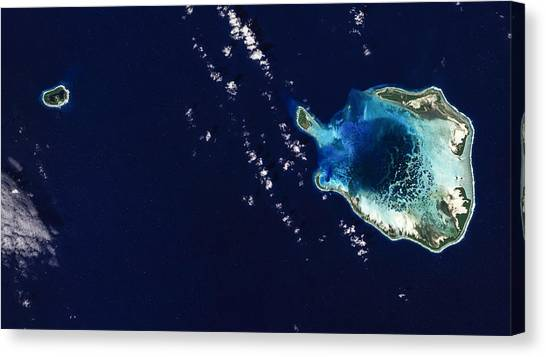 Satellite Canvas Print - Cocos Islands by Adam Romanowicz