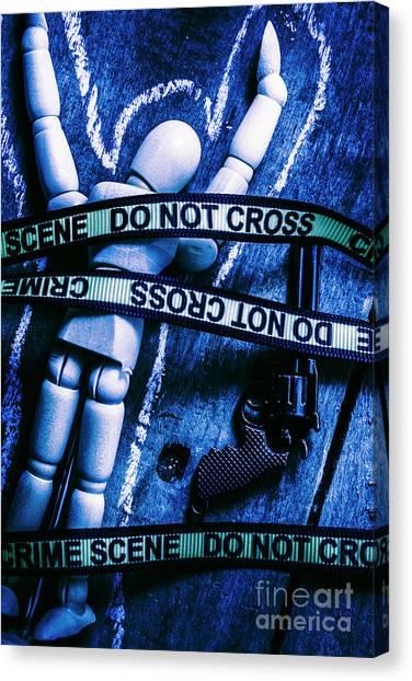 Police Canvas Print - Code Blue Csi by Jorgo Photography - Wall Art Gallery