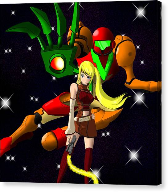 Metroid Canvas Print - Code Metroid by Weaver Neith