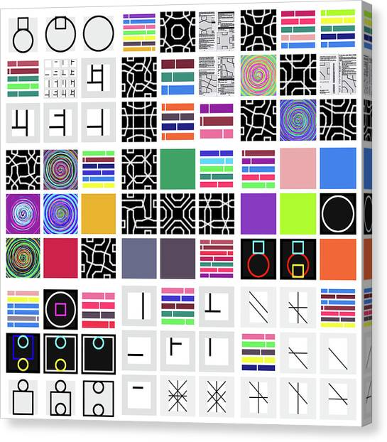 Code Remix - 24 Canvas Print
