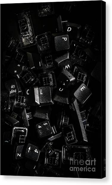 Electronic Instruments Canvas Print - Codebreaking A Hidden Clue by Jorgo Photography - Wall Art Gallery