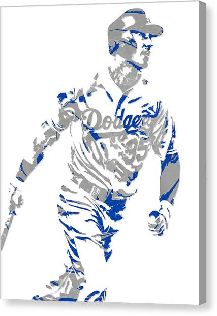 Los Angeles Dodgers Canvas Print - Cody Bellinger Los Angeles Dodgers Pixel Art 1 by Joe Hamilton