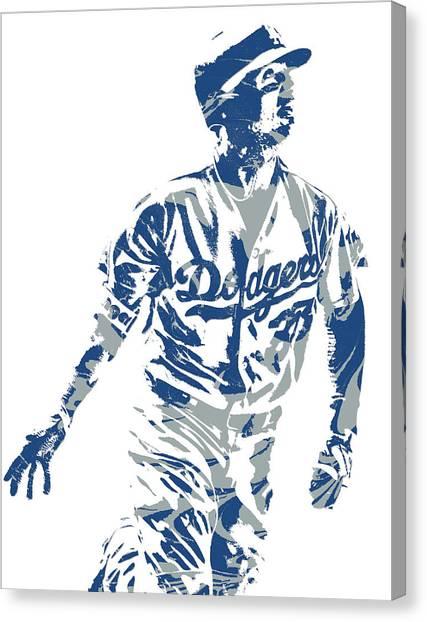 Los Angeles Dodgers Canvas Print - Cody Bellinger Los Angeles Dodgers Pixel Art 20 by Joe Hamilton
