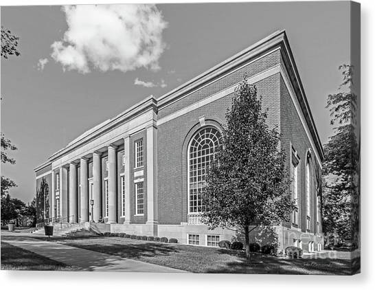 University Of Iowa Canvas Print - Coe College Stewart Memorial Library by University Icons