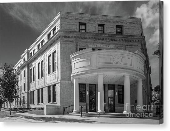 University Of Iowa Canvas Print - Coe College Voorhees Hall by University Icons