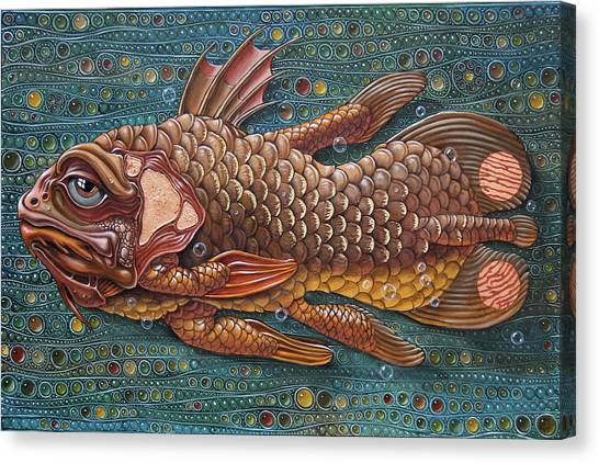 Coelacanth Canvas Print