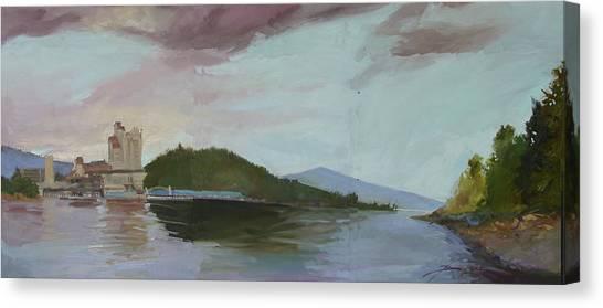 Betty Billups Canvas Print - Coeur D Alene Lake    North  Idaho by Betty Jean Billups