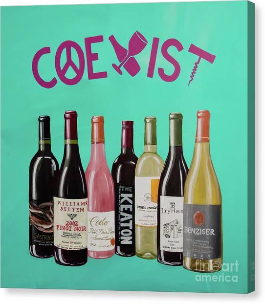 Coexist Canvas Print - Coexist by Deb Breton