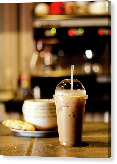 Coffee Bar Atmosphere Canvas Print