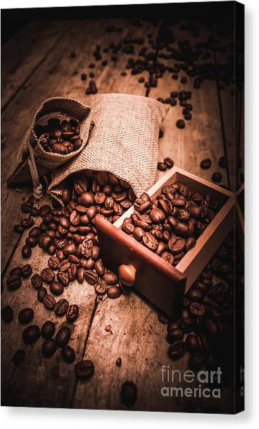 Brown Canvas Print - Coffee Bean Art by Jorgo Photography - Wall Art Gallery