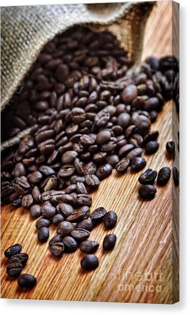 Coffee Beans Canvas Print - Coffee Beans by Elena Elisseeva