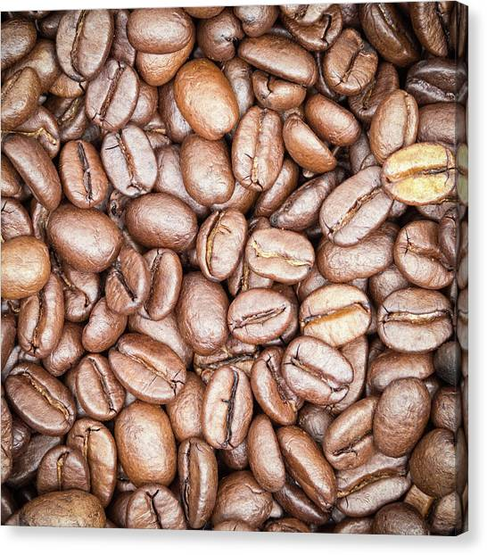 Coffee Canvas Print - Coffee Beans by Wim Lanclus