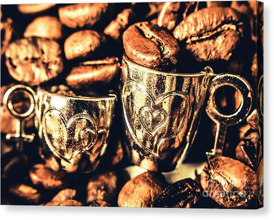 Coffee Shops Canvas Print - Coffee Break Date by Jorgo Photography - Wall Art Gallery