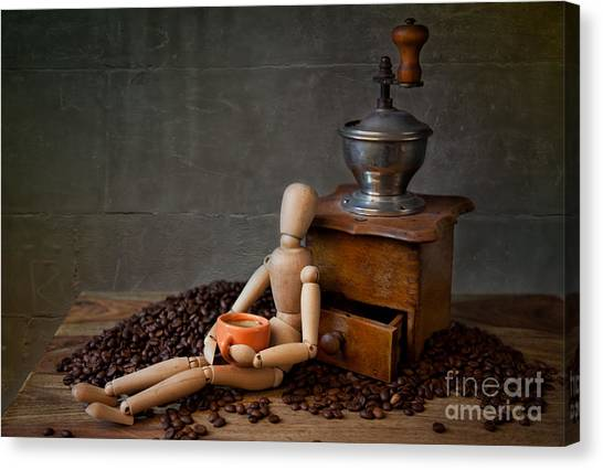 Espresso Canvas Print - Coffee Break by Nailia Schwarz