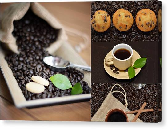 Coffee Collage Photo Canvas Print