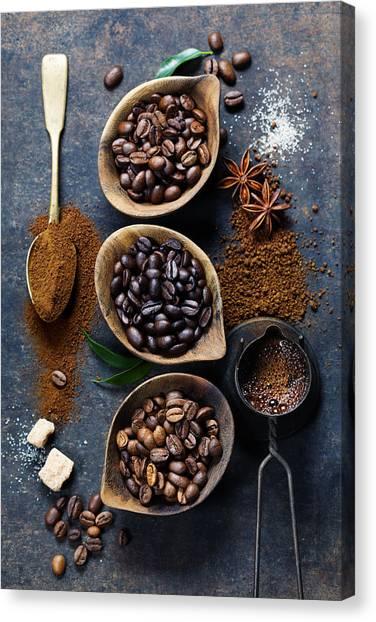 Coffee Plant Canvas Print - Coffee Composition by Natalia Klenova