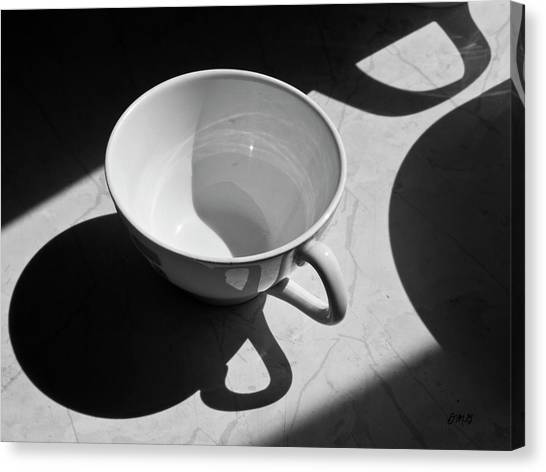 Coffee Cup In Light And Shadow Canvas Print