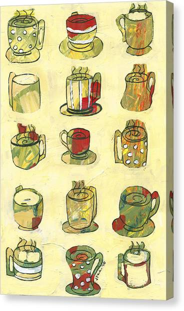 Coffee Shops Canvas Print - Coffee For Fifteen by Jennifer Lommers