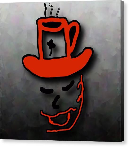 Coffee Hat Man Canvas Print