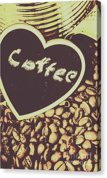 Caffeine Canvas Print - Coffee Heart by Jorgo Photography - Wall Art Gallery