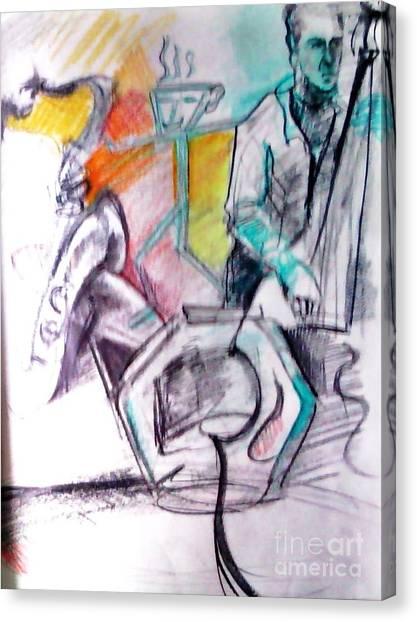 Coffee House Jazz Canvas Print by Jamey Balester