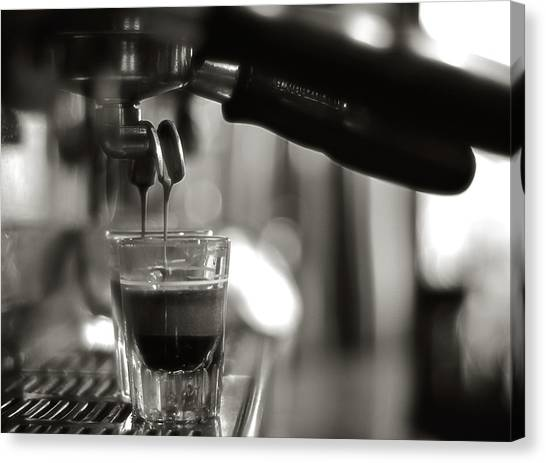 Coffee Canvas Print - Coffee In Glass by JRJ-Photo