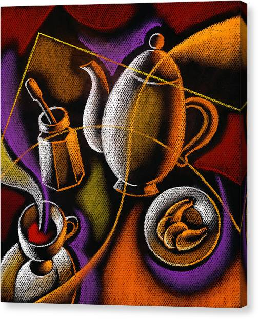 Coffee Canvas Print - Coffee by Leon Zernitsky