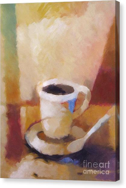 Cup Of Coffee Canvas Print - Coffee by Lutz Baar