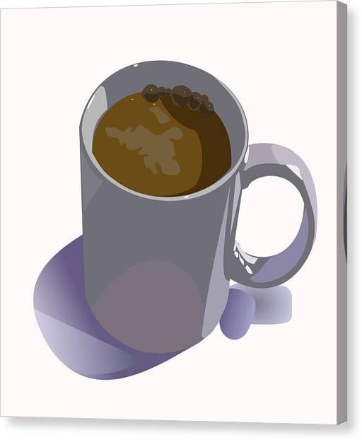 Coffee Mug Canvas Print by Robert Bissett