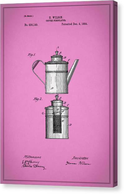 Coffee Plant Canvas Print - Coffee Percolator Patent 1894 by Mark Rogan