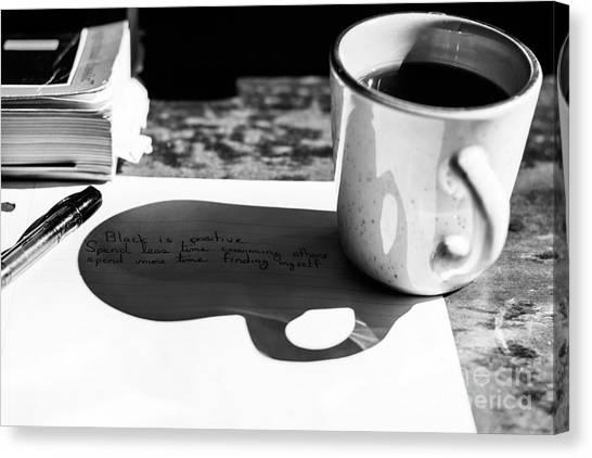 Coffee Poetry Canvas Print