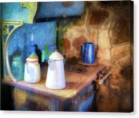 Coffee Pots Canvas Print