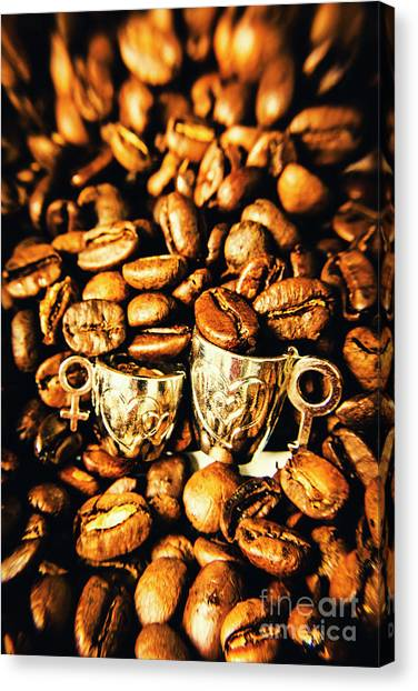 Caffeine Canvas Print - Coffee Shop Companions  by Jorgo Photography - Wall Art Gallery