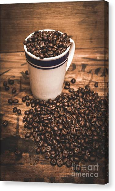 Coffee Shops Canvas Print - Coffee Shop Cup And Beans by Jorgo Photography - Wall Art Gallery