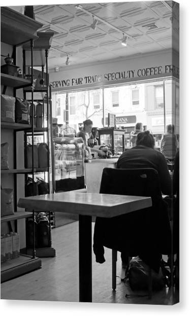 Ridgewood Canvas Print - Coffee Shop by Randy