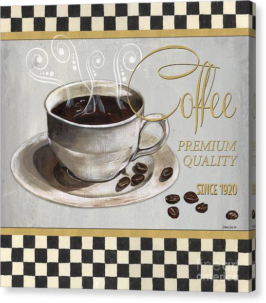 Cafes Canvas Print - Coffee Shoppe 1 by Debbie DeWitt
