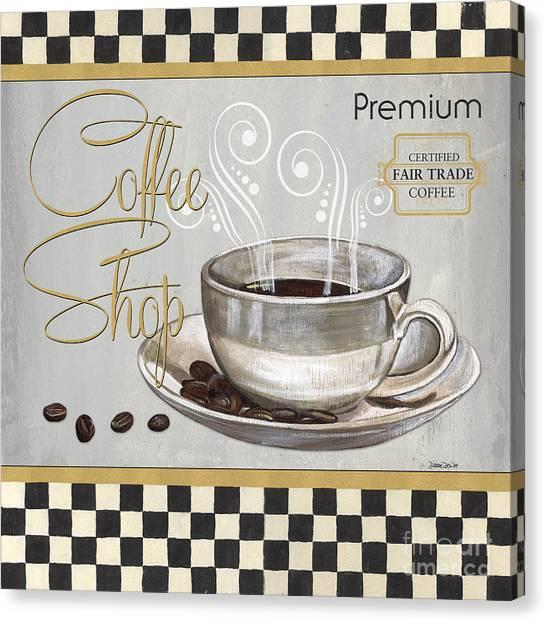 Caffeine Canvas Print - Coffee Shoppe 2 by Debbie DeWitt