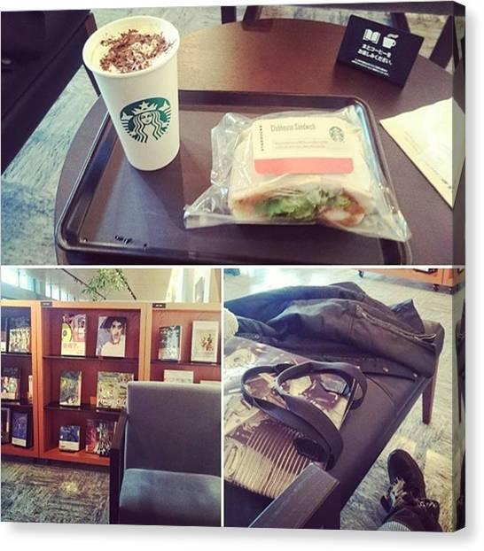 Sandwich Canvas Print - Coffee Time☕  #kyoto #starbucks by D H