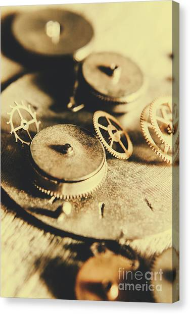 Repairs Canvas Print - Cog And Gear Workings by Jorgo Photography - Wall Art Gallery