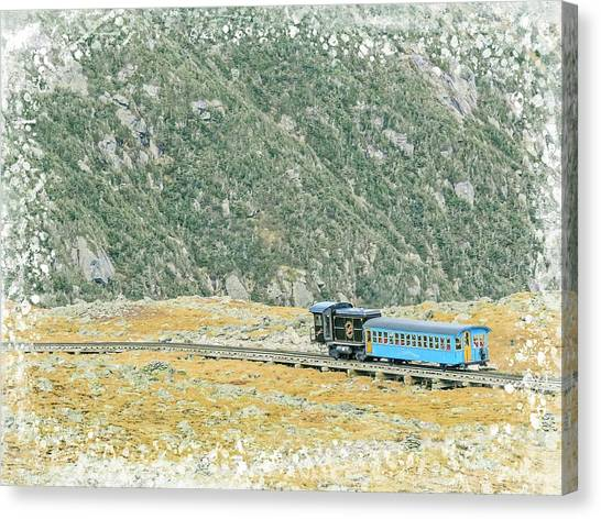 Cog Railroad Train. Canvas Print