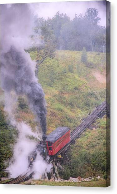 Cog Railway Car Canvas Print