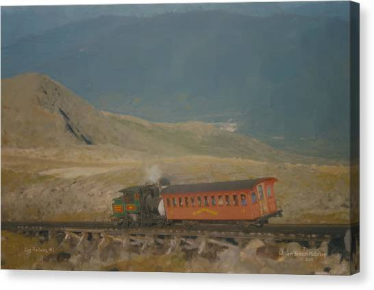 Cog Railway Mount Washington Canvas Print