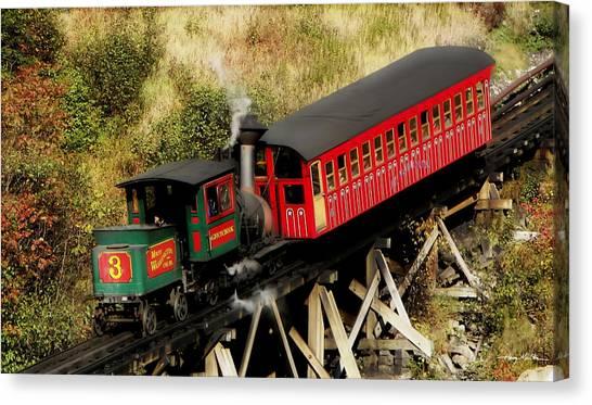 Cog Railway Vintage Canvas Print
