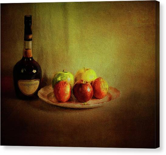 Cognac And Fruits Canvas Print