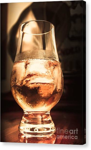 Cognac Canvas Print - Cognac Glass On Bar Counter by Jorgo Photography - Wall Art Gallery