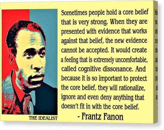 Cognitive Dissonance Frantz Fanon Canvas Print