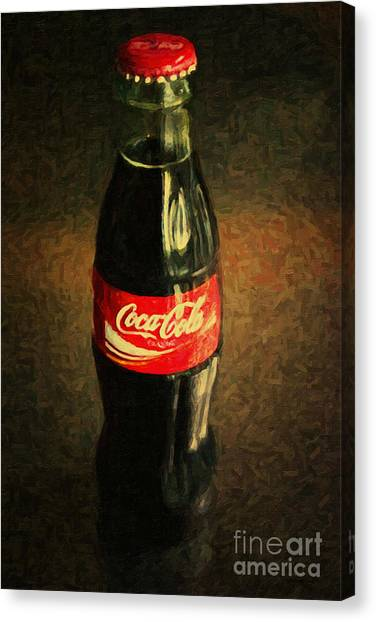 Andy Warhol Canvas Print - Coke Bottle by Wingsdomain Art and Photography